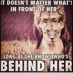 Behind Her
