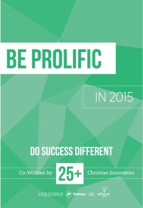 Be Prolific Cover